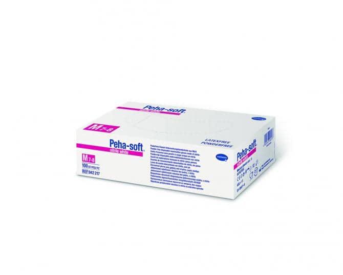 Hartmann puderfreie Untersuchungshandschuhe Peha-soft® nitril white