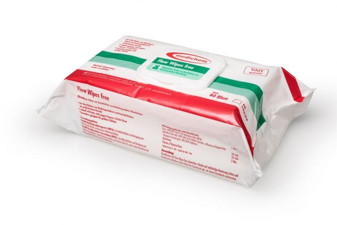 medichem Flow Wipes free Desinfektionstücher