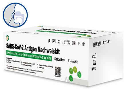 Per Grande SARS-CoV-2- Antigen-Test zur Eigenanwendung - für den vorderen Nasenbereich