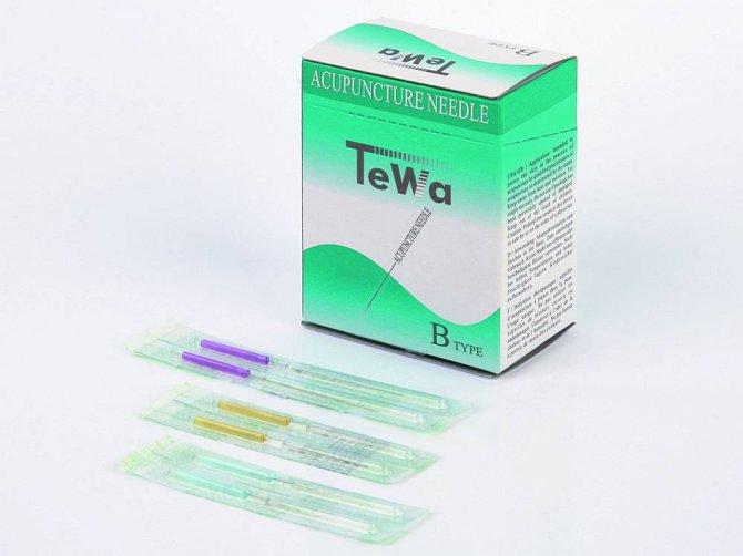 asiamed TeWa Einmal-Akupunkturnadeln